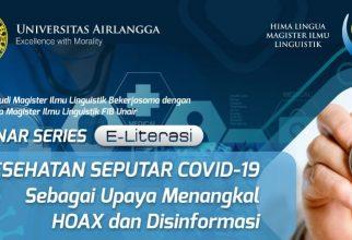 E-Literasi Kesehatan Seputar Covid-19 Sebagai Upaya Menangkal Hoax dan Disinformasi